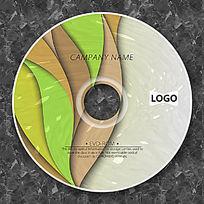 曲线绿色渐变时尚CD模板设计