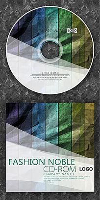 深色木纹时尚CD光盘设计