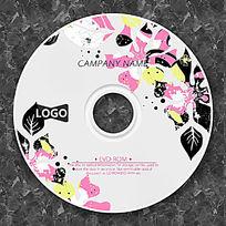 涂鸦花朵时尚CD包装设计