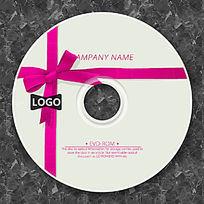 紫红色蝴蝶结可爱cd封面设计