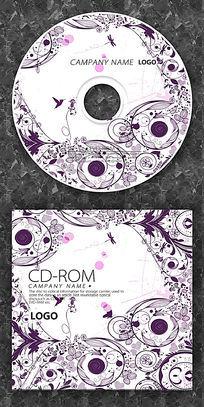 紫色花纹圆点cd封面设计