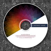 彩虹色科技花朵时尚CD光盘