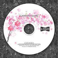 抽象粉色花瓣光盘版面设计
