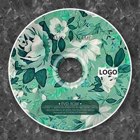 淡绿色玫瑰唯美CD面板设计