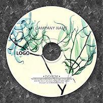 淡绿色叶子个性光盘设计