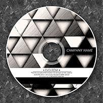 黑白金属质感三角形时尚CD设计
