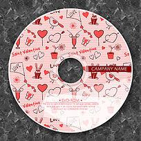 红色涂鸦背景时尚CD光盘设计