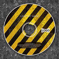 黄黑斜纹时尚CD光盘