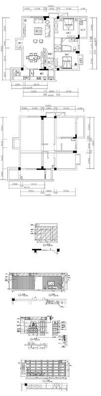 家居住宅CAD平面图纸
