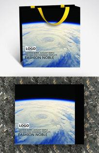 地球鸟瞰图时尚个性纸袋