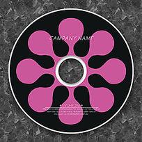 粉色卡通矢量图形个性CD模板