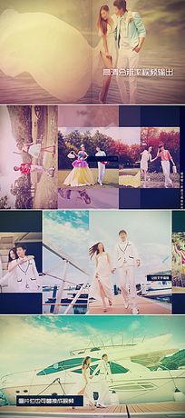 浪漫唯美婚礼视频剪辑片头ae模板