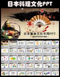 日本礼仪美食文化ppt动态模板