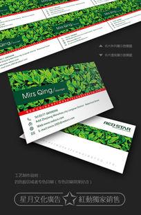 绿色食品名片设计