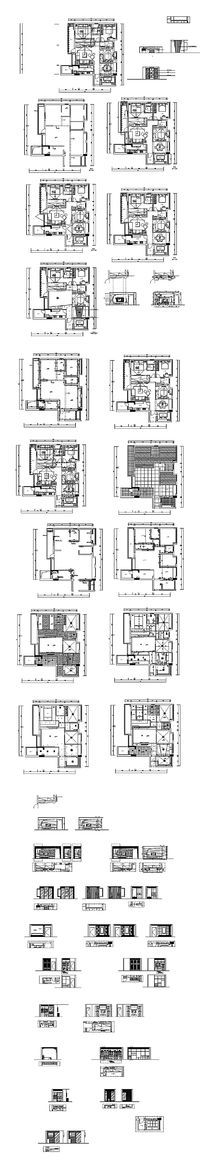 CAD家居装饰设计立面图
