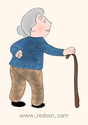 卡通老人漫畫