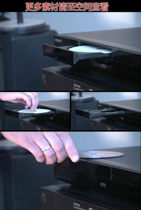 DVD影碟机开仓放碟取碟高清实拍视频素材