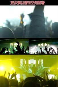 迪吧现场人群手舞足蹈实拍视频素材