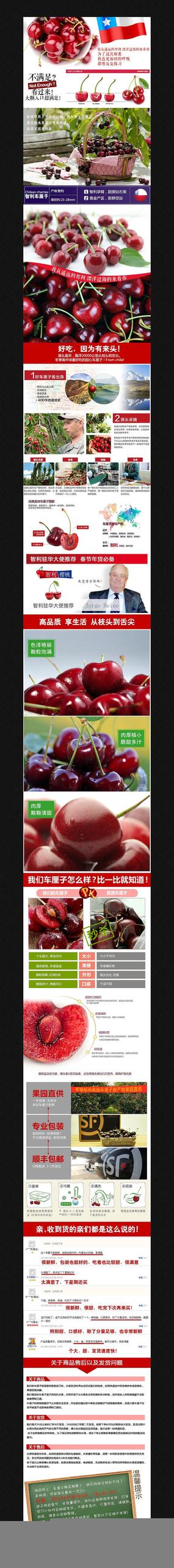 淘宝水果樱桃详情页 PSD