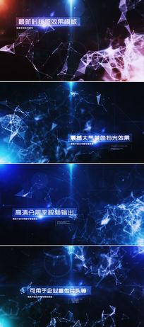 大气粒子线条企业文字宣传开场AE模板