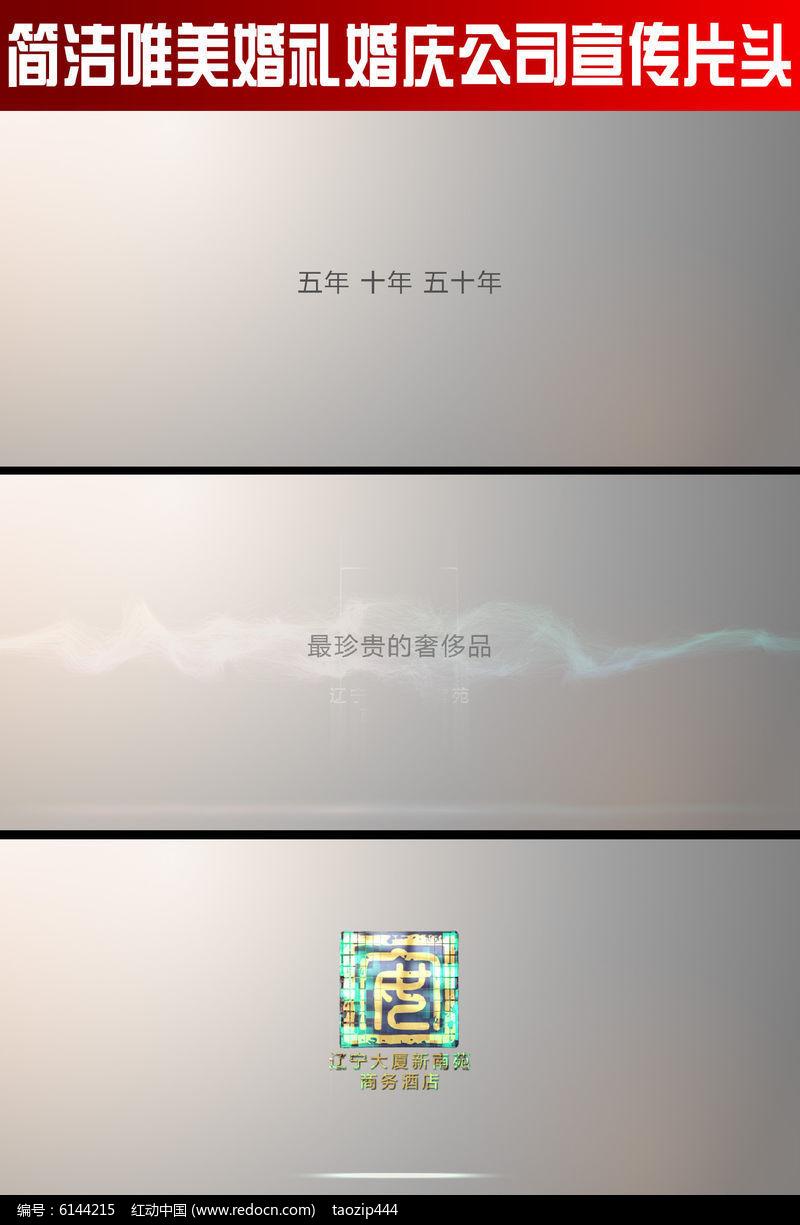 简洁唯美婚礼婚庆公司宣传片头