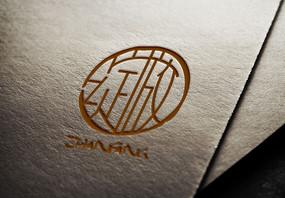 大氣綻放印章logo