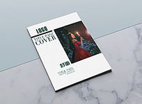 简约时尚人物杂志封面