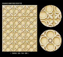 欧式金属浮雕花纹背景素材