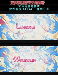 漂亮时尚动感花纹背景字幕片头AE模板