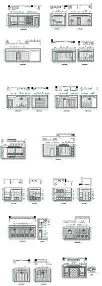 别墅施工立面图