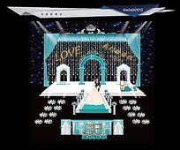 蒂芙尼蓝色主题婚礼舞美设计