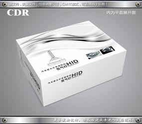 黑白简约线条汽车灯包装展开图cdr CDR