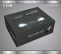 简约灰色汽车灯包装设计模板cdr