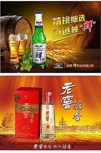 啤酒白酒宣传广告海报设计