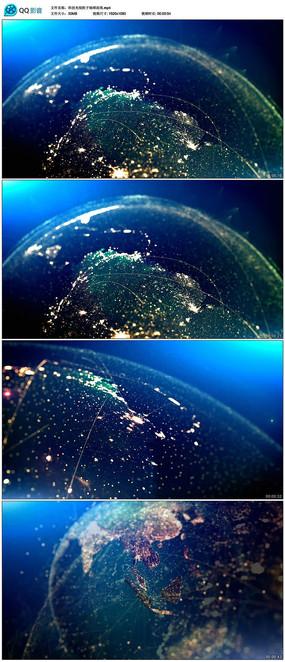 世界地图夜景