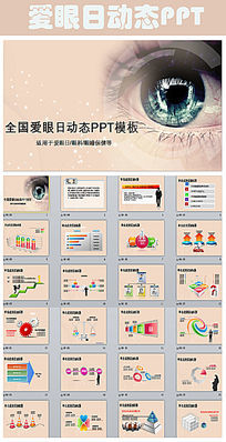 全国爱眼日眼科诊断通用PPT模板