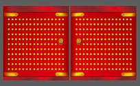 中式大红门矢量设计稿
