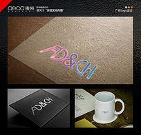 广告公司logo设计鲜艳明亮英文字体