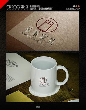 简简洁大方家具公司logo
