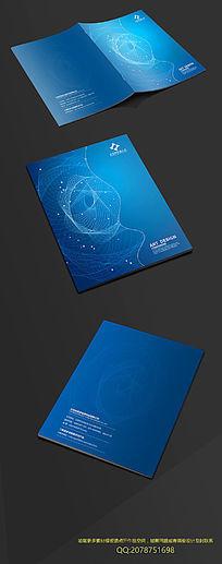 蓝色科技线条封面设计