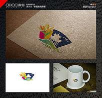 五彩缤纷的旅游logo
