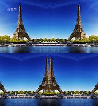 巴黎埃菲尔铁塔高清视频背景