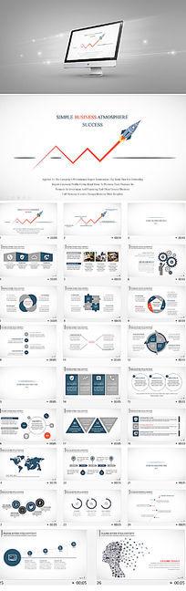 公司业绩报告商业策划计划书PPT模板