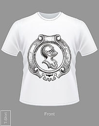欧式花纹T恤