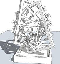 金属方框组合雕塑