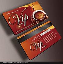 时尚咖啡会员卡模板