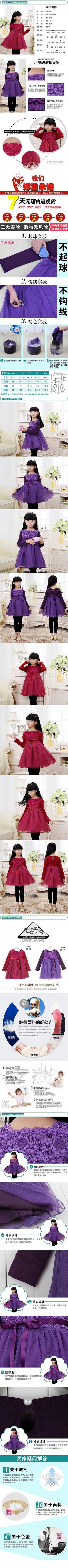 淘宝童装连衣裙描述图
