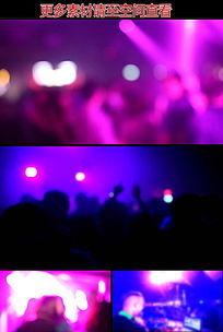夜店歌会现场人群狂欢虚焦高清视频素材