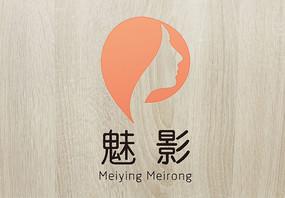 橘色复古魅影美容logo
