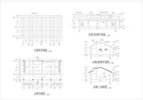坡屋顶公园公共厕所施工图